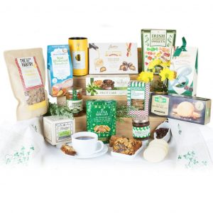 Erins Taste Of Ireland with Irish Fruitcake, Whiskey Marmalade, Shortbread Biscuits, Granola, Fudge, Crackers & Sweets.